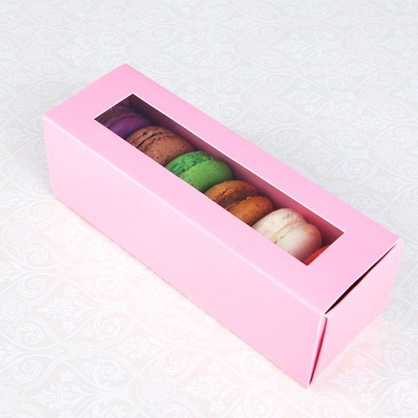 6 Pink Window Macaron Boxes($2.50/pc x 25 units)