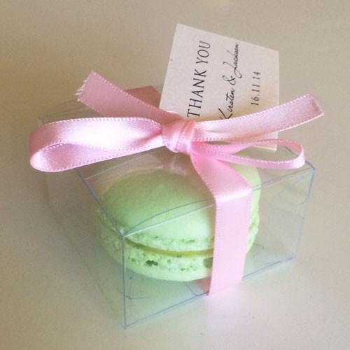 Clear Macaron Box for 1 Macaron($1.40/pc x 25 units)