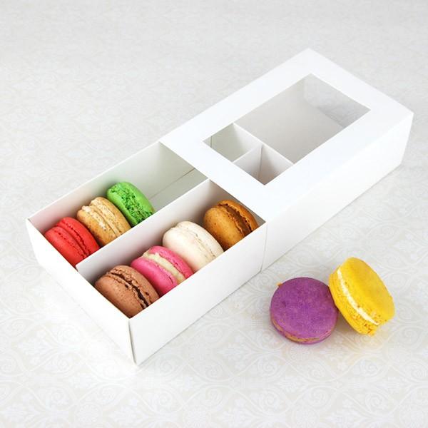 12 Macaron White Window Boxes ($3.50/pc x 25 units)