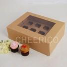 12 Kraft Cupcake Window Box ($4.25/pc x 25 units)
