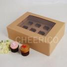 12 Kraft Brown Window MIni Cupcake Box ($3.60/pc x 25 units)