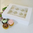 12 Cupcake Window Box w Flex hole($3.50/pc x 25 units)