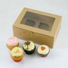 2 Cupcake Kraft Window Box($1.85/pc x 25 units)