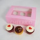 6  Window Pink Cupcake Box($2.60/pc x 25 units)