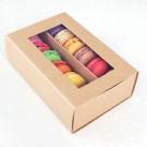 12 Macaron Kraft Window Boxes ($3.50/pc x 25 units)