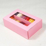 12 Pink Window Macaron Boxes ($3.50/pc x 25 units)