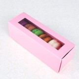 6 Pink Window Macaron Boxes($2.50/pc x 25 units)
