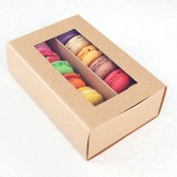 12 Macaron Kraft Window Boxes ($3.50/pc x 25 units)