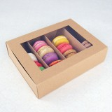 24 Macaron Kraft Window Boxes ($5.00/pc x 25 units)