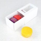 3 Macaroon White Window Boxes($1.85/pc x 25 units)