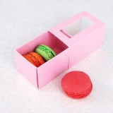 3 Pink Macaron Window Boxes($1.85/pc x 25 units)