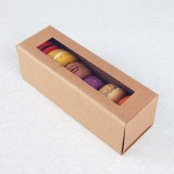 6 Macaron Kraft Brown Boxes($2.50/pc x 25 units)